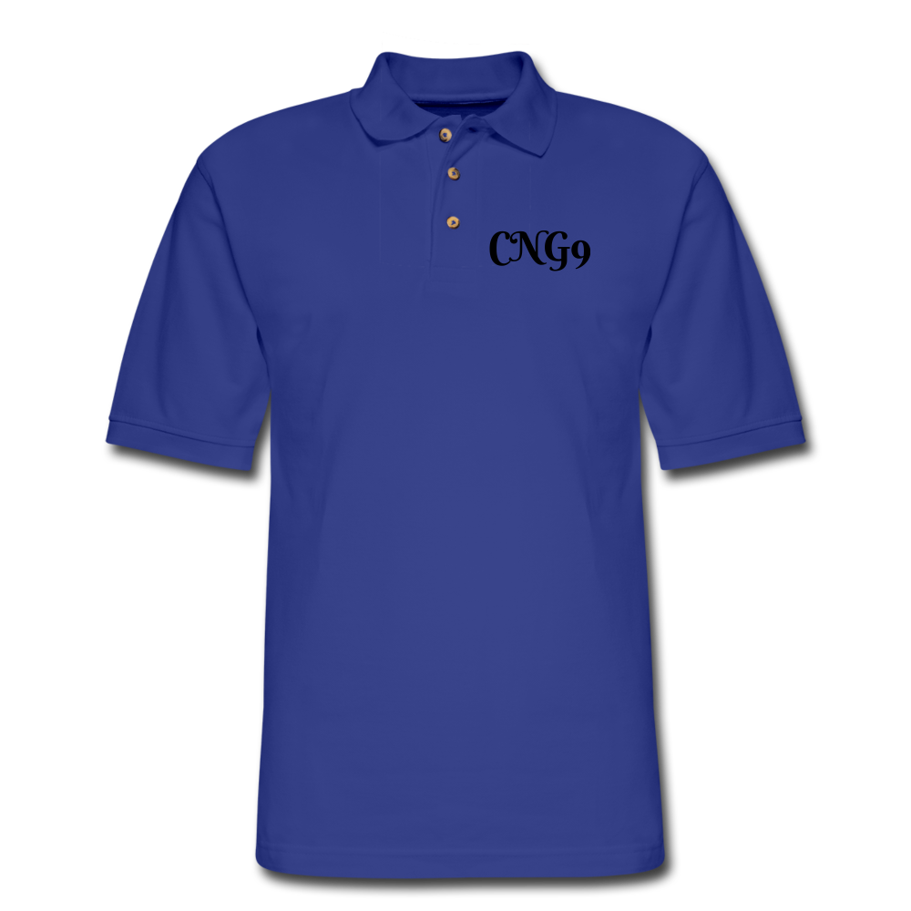 Men's Pique Polo Shirt - royal blue
