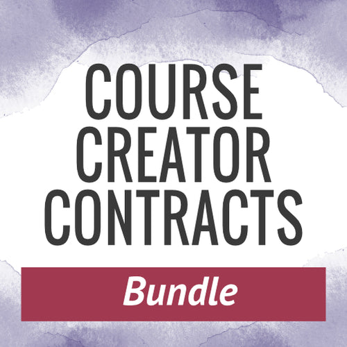 Course Creator Contracts Bundle