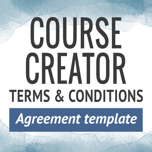 Course Creator Terms & Conditions Agreement Template