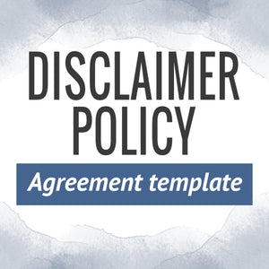 Disclaimer Policy Template
