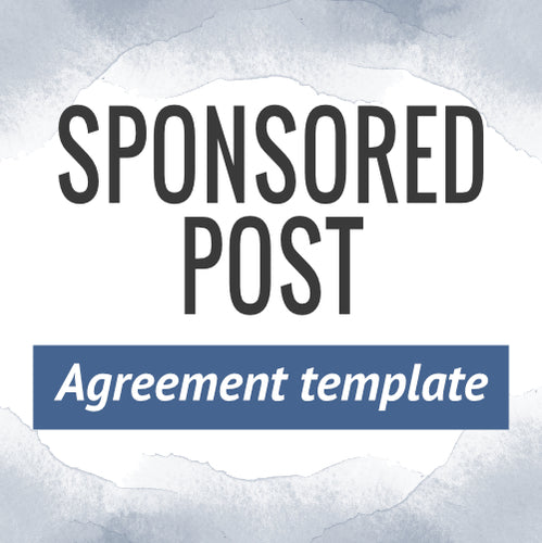 Sponsored Post Agreement Template