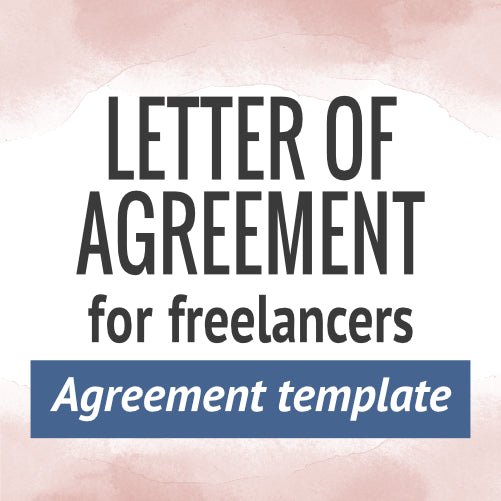 Letter of Agreement for Freelancers Template