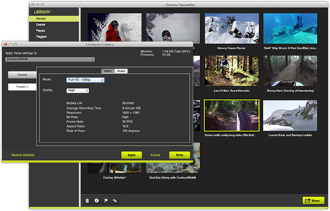 An example of contour storyteller software that displays both the.