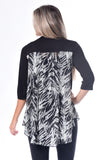 Combo Zebra Burnout Top