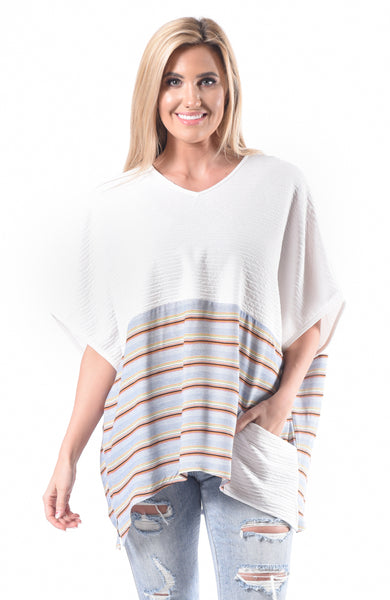 Poncho Combo Top