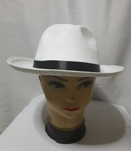 White Hat with black lace