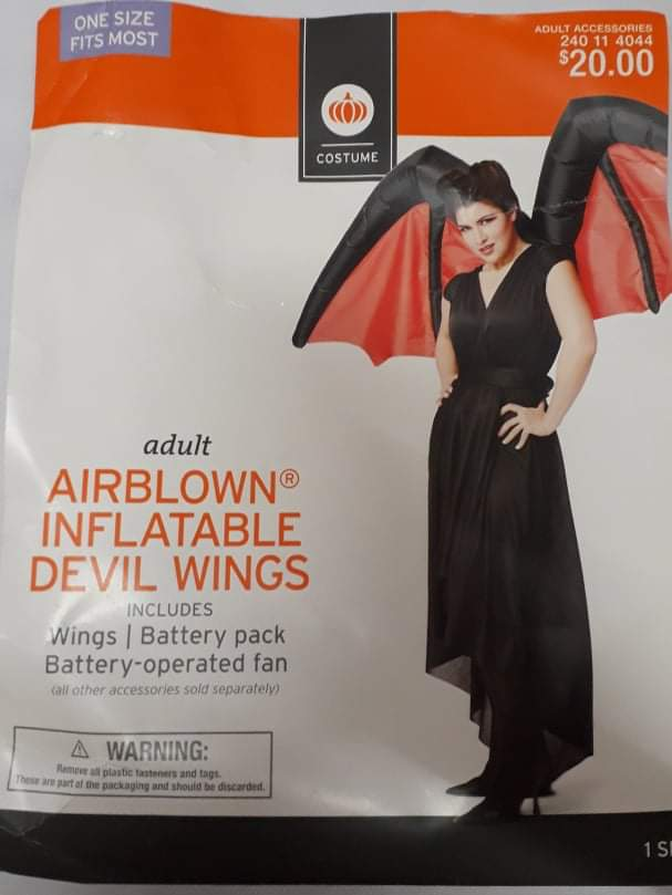Airblown Inflatable Devil Wings