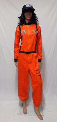Astronaut Orange Costume 3