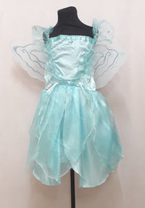 Blue Pixie Costume for Kids 7-8y