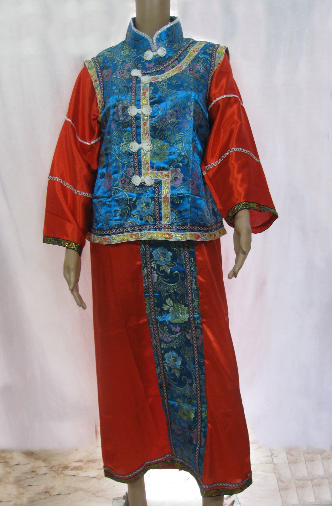 Chinese Emperor Blue Costume