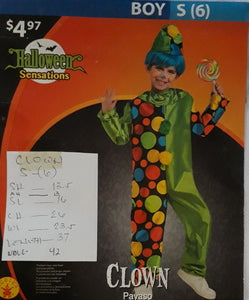 Clown Costume for kids (6-7yo)