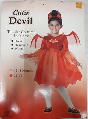 Cutie Devil Costume for Kids 2-3y