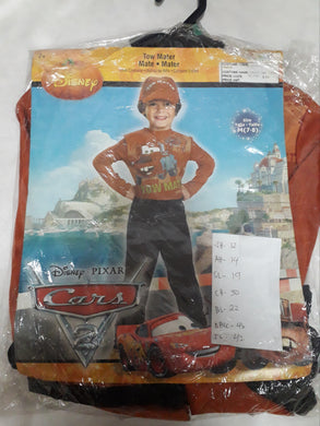Tow Mater Cars Costume for Kids 6-7y