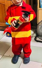 Load image into Gallery viewer, Fireman Costume for Kids 3-6y