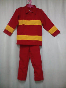 Fireman Costume for Kids 3-6y