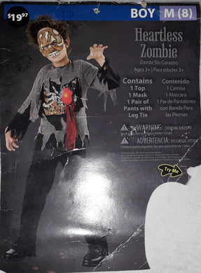 Heartless Zombie Costume for Kids 7-8y