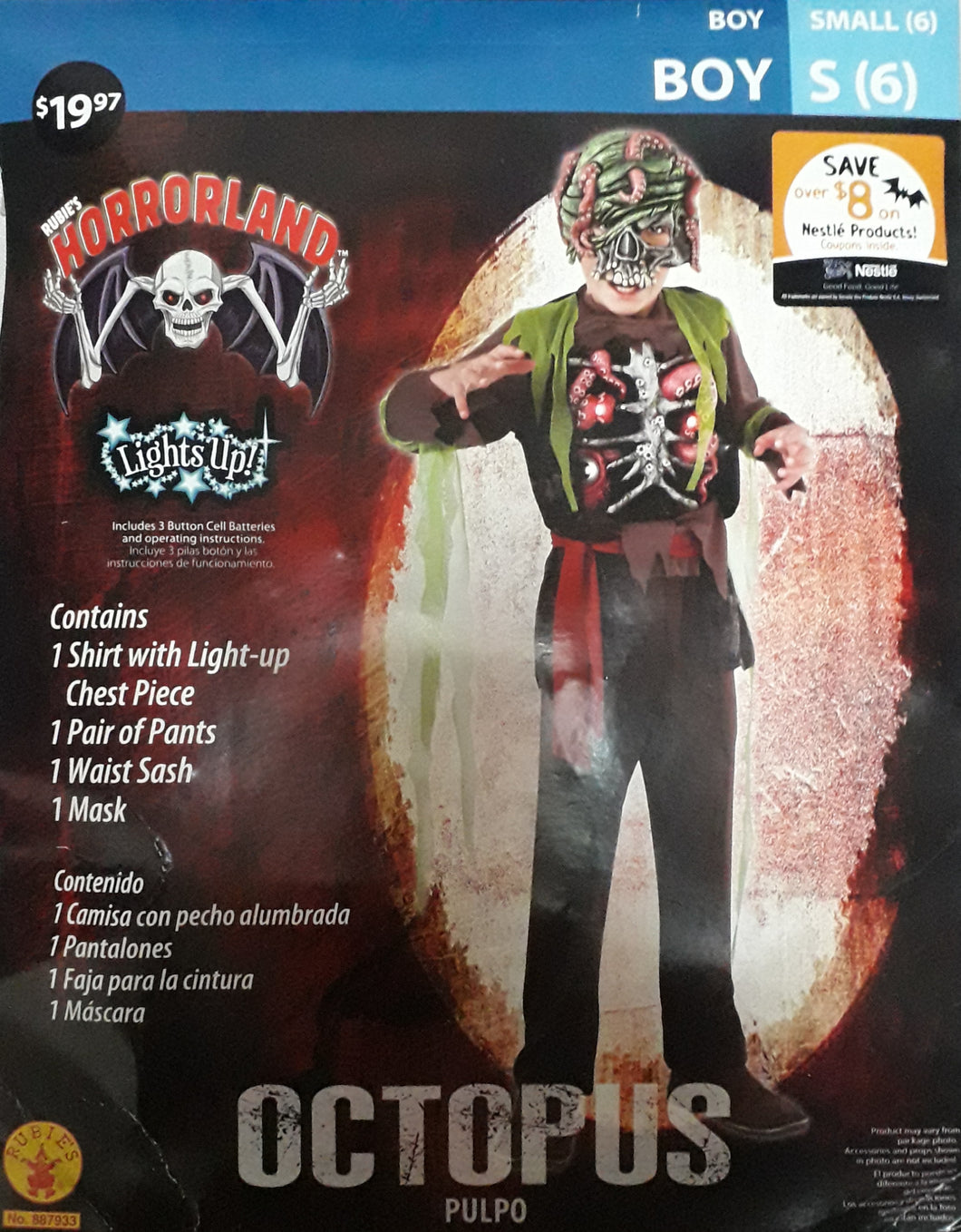 Horror Octopus Costume for Kids 4-6y