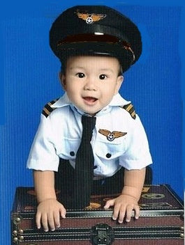 Pilot Costume for Kids 1-10y