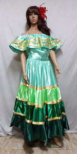 Colombia, Mexico, South America Costume Green