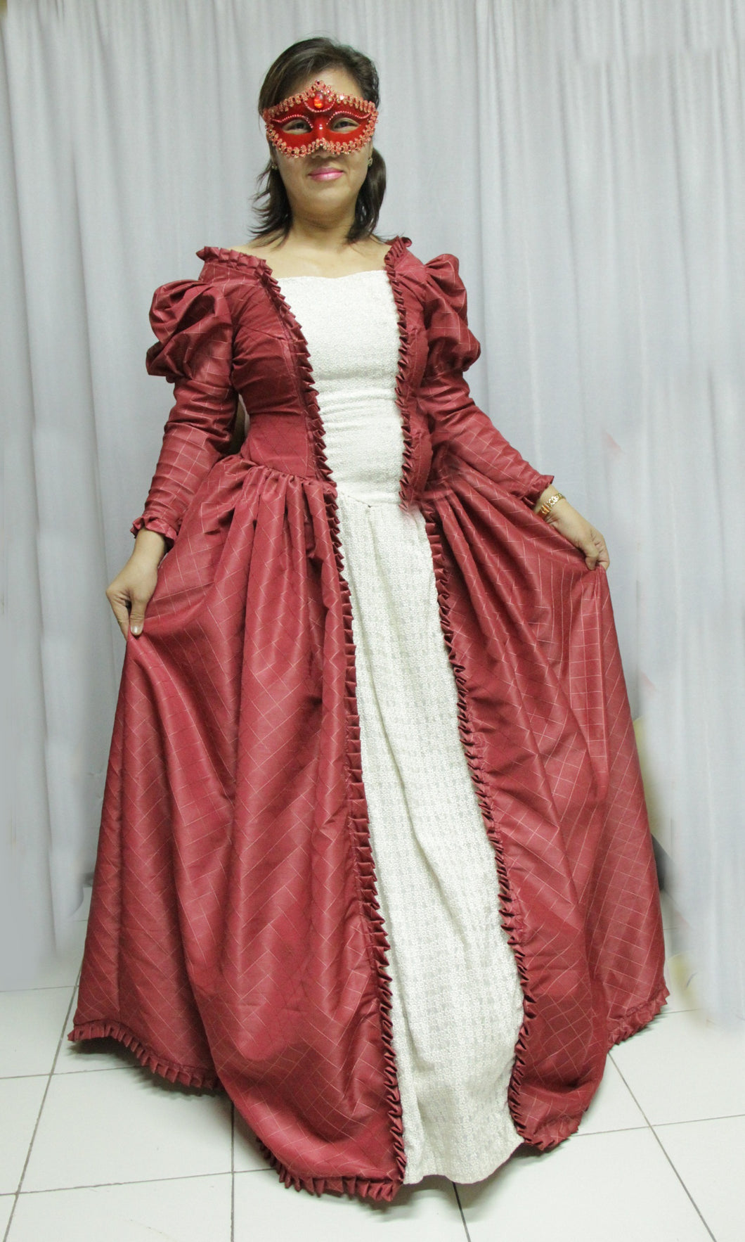 Victorian Costume Old Rose