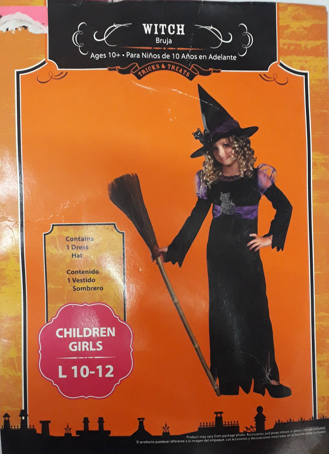 Witch Costume for kids (10-12yo)