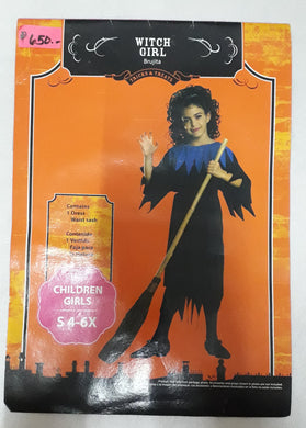 Witch girl Costume for Kids 4-6y