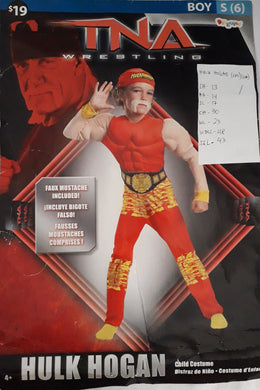 TNA wresting hulk hogan costume for kids (6-7yo)