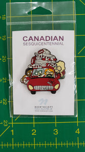 Canadian Sesquicentennial Pin - Crazy Quilters