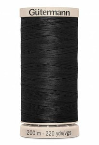 Gutermann Cotton Hand Quilting Thread  - Black