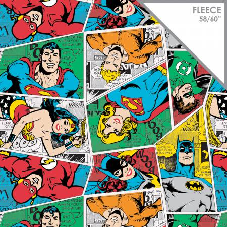 Multi DC Comics Group Collage Fleece