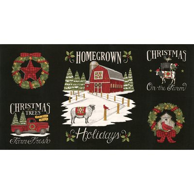 Homegrown Holidays - Farmhouse Black Panel