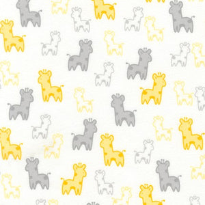 Cozy Cotton Flannel - Yellow Girafe