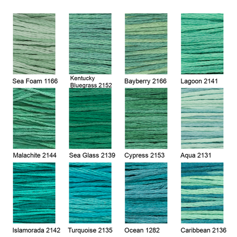 6-strand Floss - Blue/Green