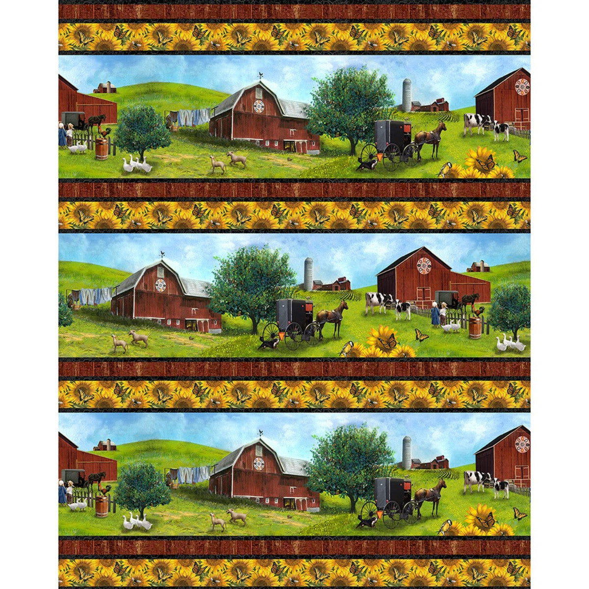 Country Paradise - Border Stripe