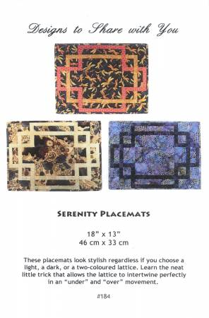 Serenity Placemats Pattern