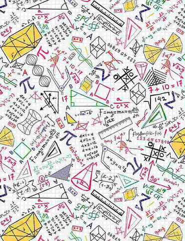 Math & Science Colorful - Math Doodles on Grid