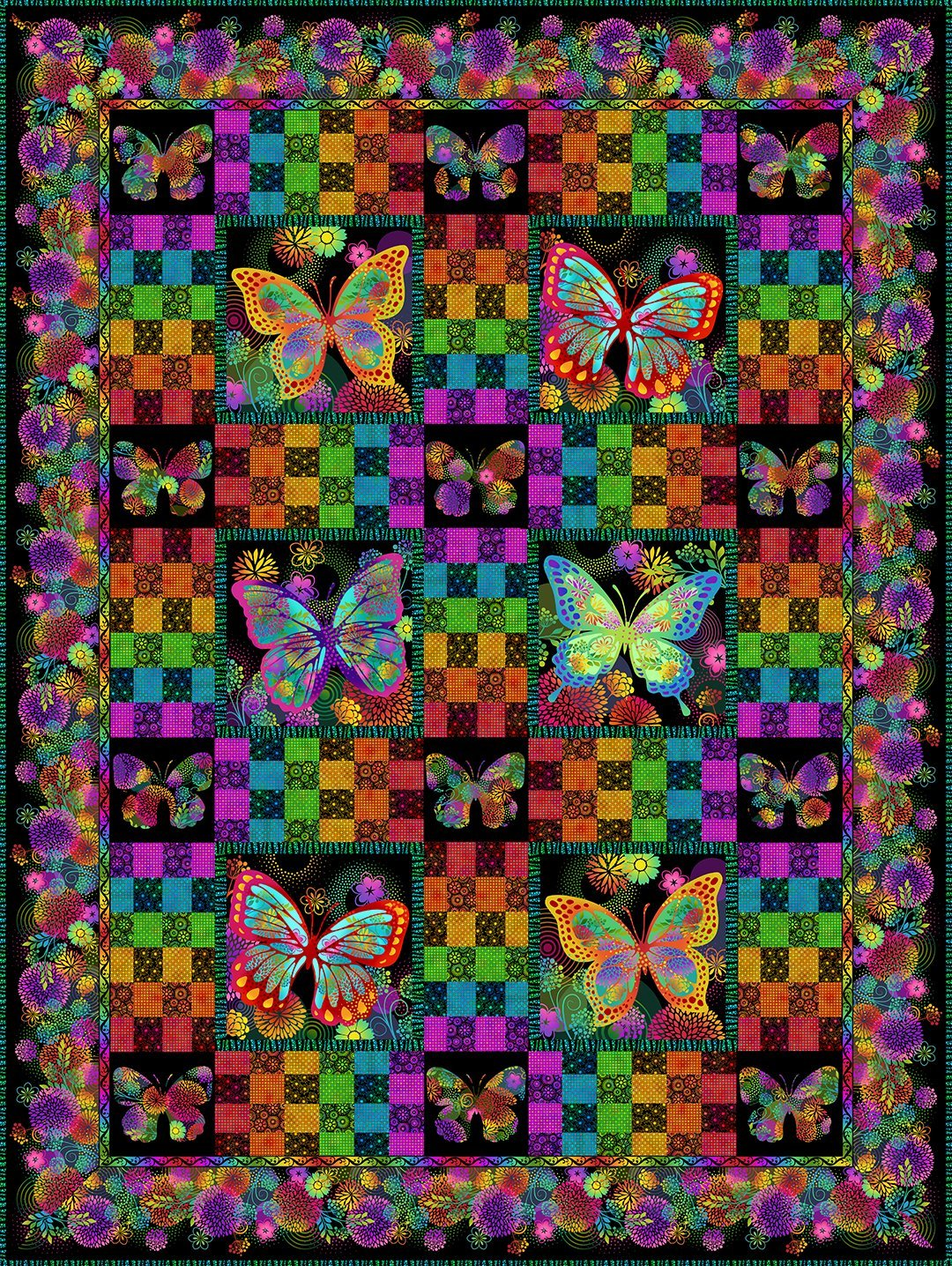 Unusual Garden II Butterfly Quilt - Kit