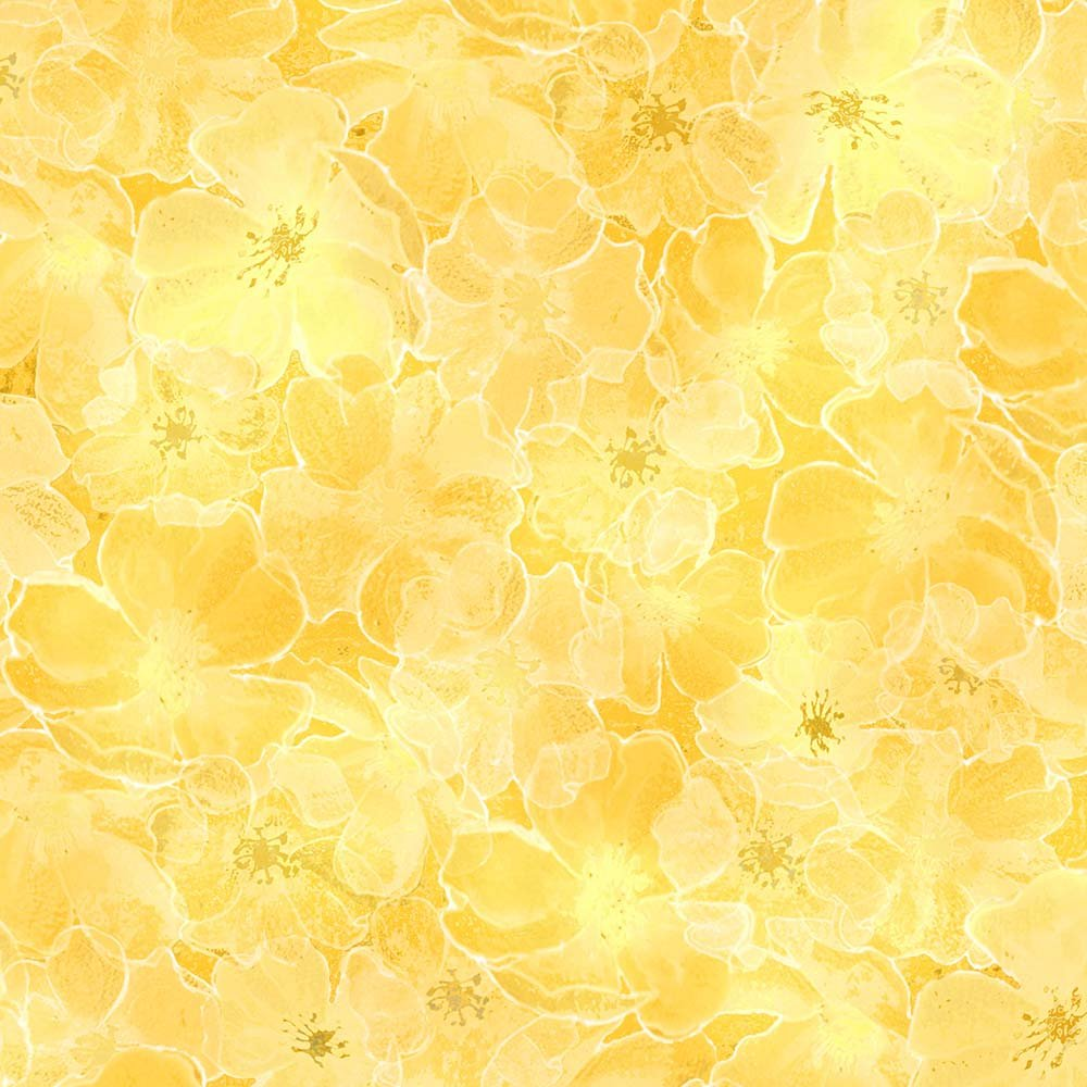 Majestic Mountains - Flower Texture Yellow