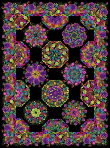 One Fabric Kaleidoscope Quilt - Kit