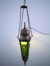 Load image into Gallery viewer, BR103 Elegant Ceiling Hall / Entrance Green Hanging Lamp / Plant Pot