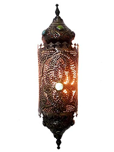 BR153 Home Decor Islamic / Arabian Pierced Brass Wall Sconce