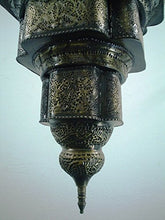 Load image into Gallery viewer, BR124 Antique Moroccan Style Mosaic Hand-Engraved Large Hanging Lamp / Light