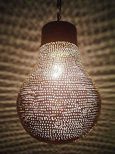 Load image into Gallery viewer, B125 New Contemporary Shiny Brass Filigrain Bulb Pendant Hanging Lamp