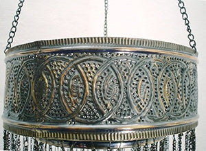BR76 UNIQUE Handmade Arabic Ring Chandelier / Lampshade With Pendants
