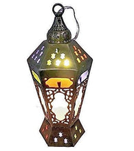 Load image into Gallery viewer, BR314 Cast Brass Classic Egyptian Ramadan Fanous Lamp Lantern
