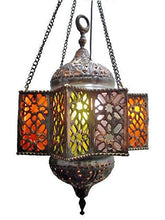 Load image into Gallery viewer, BR3-6 Vintage Reproduction Pendant Solid Brass Star Egyptian Lamp