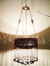 Load image into Gallery viewer, BR76 UNIQUE Handmade Arabic Ring Chandelier / Lampshade With Pendants