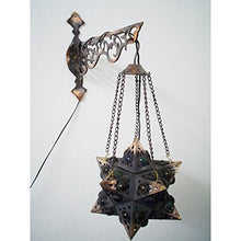 Load image into Gallery viewer, BR55 Egyptian Wall Decor/Mount Hanging Star Brass Lamp with Decorative Bracket