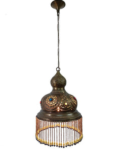 BR393 Antique Gold Finish Handmade Moroccan Dome Hanging Lampshade