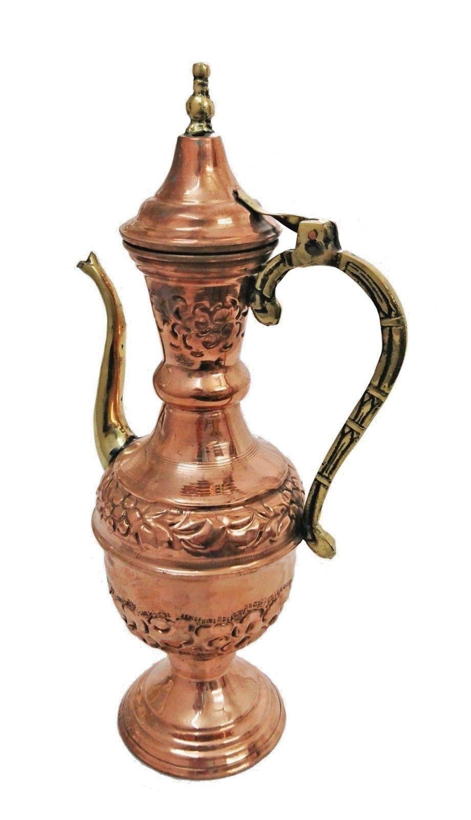 BM3 Vintage Reproduction Ottoman Brass Copper Pitcher, Made in Egypt